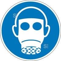 Gebotsschild, Atemschutz benutzen