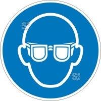 Gebotsschild, Augenschutz benutzen