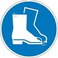 Gebotsschild, Fußschutz benutzen