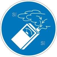 Gebotsschild, Gasdetektor benutzen