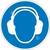 Gebotsschild, Gehörschutz benutzen