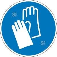 Gebotsschild, Handschutz benutzen