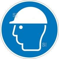 Gebotsschild, Kopfschutz benutzen