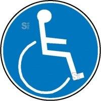Gebotsschild, Rollstuhlbenutzer
