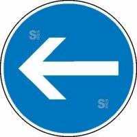 Gebotsschild / Verkehrszeichen, Fahrtrichtung
