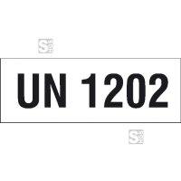 Gefahrgutaufkeber mit UN-Nummer
