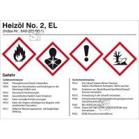 Gefahrstoffetikett, Heizöl No. 2 EL