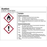 Gefahrstoffetikett zur innerbetrieblichen Behälterkennzeichnung...