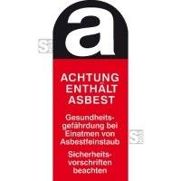 Gefahrstoffkennzeichnung / Warnschild, Asbestfeinstaub