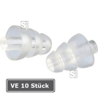 Gehörschutzstöpsel -3M ClearE-A-R-, VE 10 Paar, 20 dB SNR, vorgeformt und wiederverwendbar, transparent