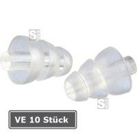 Gehörschutzstöpsel -3M ClearE-A-R-, VE 10 Paar, 20 dB SNR, vorgeformt, wiederverwendbar, transp.