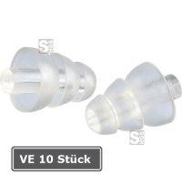 Gehörschutzstöpsel -3M Clear E-A-R-, VE 10 Paar, 20 dB SNR, vorgeformt, wiederverwendbar, transp.
