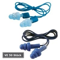 Gehörschutzstöpsel -3M E-A-R Tracers-, VE 50 Paar, mit Kordel, 20 - 32 dB SNR, wiederverwendbar
