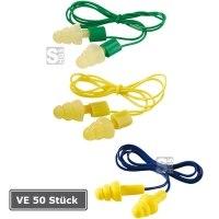 Gehörschutzstöpsel -3M E-A-R ULTRAFIT-, VE 50 Paar, mit Kordel, 14 - 32 dB SNR, vorgeformt und wiederverwendbar