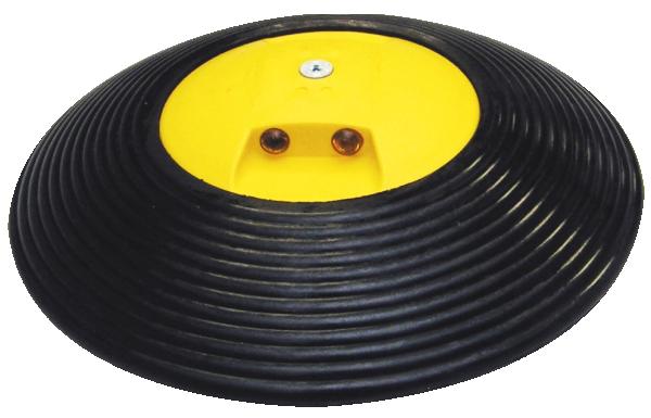 Geschwindigkeitshemmer -Speed Stop- mit gelben Reflektoren