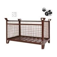 Gitterbox-Stapelpalette -G1315- mit Kranösen, Tragkraft 1,5 t, verschiedene Größen, verzinkt oder lackiert