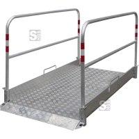 Grabenbrücke aus Aluminium, Tragfähigkeit 200 kg / m², verschiedene Längen