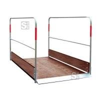 Grabenbrücke aus Holz, Tragfähigkeit 150 kg / m², Seitengeländer herausnehmbar, verschiedene Längen