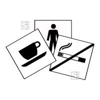 Grafik Schilder -Graphic Line Classic-, aus Kunststoff oder Folie, 100x100 mm oder 150x150 mm