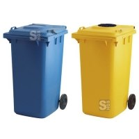 Großmülltonne -P-Bins 80- 240 Liter aus Kunststoff, wahlweise für Papier oder Glas