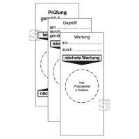 Grundplaketten für Prüfplaketten, verschiedene Aufschriften, Bogen