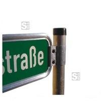 Halterung für Straßennamenschilder, Klemmschelle V-Profil (gerade)