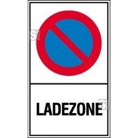 Haltverbotsschild, Eing. Halteverbot, Ladezone