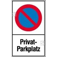 Haltverbotsschild, Eing. Halteverbot, Privatparkplatz