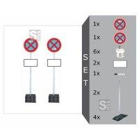 Haltverbotszonen-Set mobil -SIGN II-, mit Schaftrohren 2500 mm und 4 Fußplatten - nicht gem. TL
