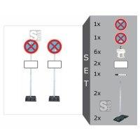 Haltverbotszonen-Set mobil -SIGN I-, mit Schaftrohren 2500 mm und 2 Fußplatten - nicht gem. TL