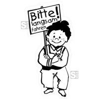 Hartschaum-Schild Kinderfigur mit Schild und Wunschtext, einfarbig