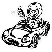 Hartschaum-Schild Kinderfigur mit Spielzeugauto, einfarbig