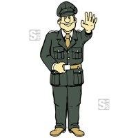 Hartschaum-Schild Polizeifigur, mehrfarbig