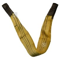 Hebeband aus Polyester, verstärkte Endschlaufen, Tragkr. 3000kg, Gurtbreite 90mm, nach DIN 1492-1