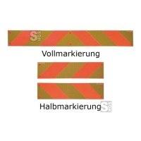 Heckmarkierungen Hart-Aluminium o. Folie, ECE 70, für Zugmaschinen, Voll- / Halb- / Viertelmarkierung