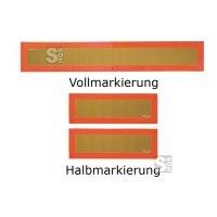 Heckmarkierungen Hart-Aluminium oder Hochreflexfolie, ECE 70, f. Anhänger o. Auflieger