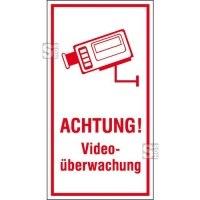 Hinweis-Kombischild, ACHTUNG! Videoüberwachung