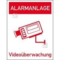 Hinweis-Kombischild, Alarmanlage Videoüberwachung