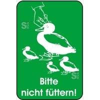 Hinweisschild, Bitte nicht füttern!, 400 x 600 mm
