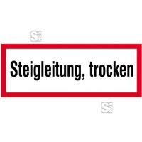 Hinweisschild, Steigleitung, trocken