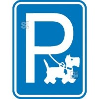 Hinweisschild für Gewerbe und Privat, Hundeparkplatz