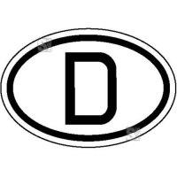 Hinweisschild für Kraftfahrzeuge, Internationales Kennz. f. Deutschland