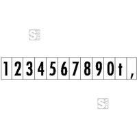 Hinweisschild für Kraftfahrzeuge, selbstklebende Zahlenschilder