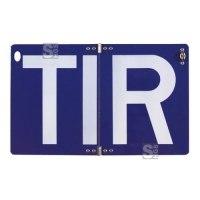 Hinweisschild für Transitverkehr (TIR-Schild), klappbar