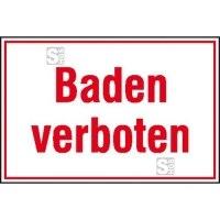 Hinweisschild für Wald- und Freizeitanlagen, Baden verboten