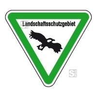 Hinweisschild für Wald- und Freizeitanlagen, Landschaftsschutzgebiet