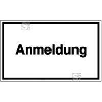 Hinweisschild zur Betriebskennzeichnung, Anmeldung