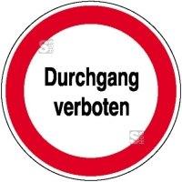 Hinweisschild zur Betriebskennzeichnung Durchgang verboten