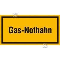 Hinweisschild zur Betriebskennzeichnung Gas-Nothahn