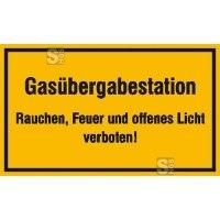 Hinweisschild zur Betriebskennzeichnung Gasübergabestation ...